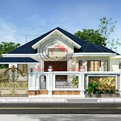 Villa door Cong ty thiet ke nha biet thu dep Kien An Vinh