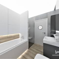 ห้องน้ำ โดย Wkwadrat Architekt Wnętrz Toruń,