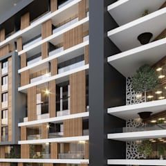 ANTE MİMARLIK  – Akköse İnşaat Konut ve Ticaret Merkezi:  tarz Balkon