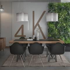 Ruang Makan oleh Santoro Design Render