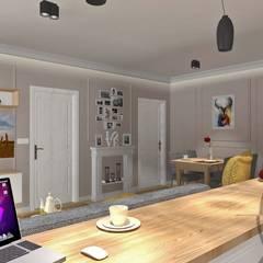 PROJEKT WNĘTRZA - MIESZKANIE TYCHY: styl , w kategorii Domowe biuro i gabinet zaprojektowany przez AM PROJEKT Adrian Muszyński