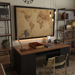 Home Office: Ruang Kerja oleh SARAÈ Interior Design,