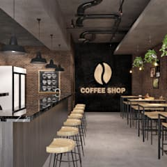 Coffee Shop:  Ruang Makan by SARAÈ Interior Design