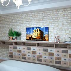 ДИЗАЙН КВАРТИРЫ 100 КВ.М: Маленькие спальни в . Автор – Студия Ольги Таракановой,