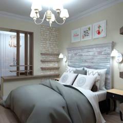 غرف نوم صغيرة تنفيذ Студия Ольги Таракановой
