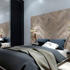 Small bedroom by Студия Ольги Таракановой