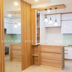 Designer:  Bếp nhỏ by Công ty TNHH Nội Thất Mạnh Hệ