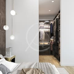 Modern Classic House Interior Design:  Dressing room by Comelite Architecture, Structure and Interior Design