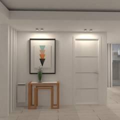 الاسكندنافية، الممر، رواق، &، درج من Heim Arquitectura Interior إسكندينافي خشب Wood effect