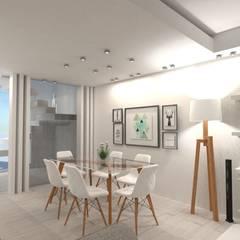 Vivienda Unifamiliar Comedores escandinavos de Heim Arquitectura Interior Escandinavo