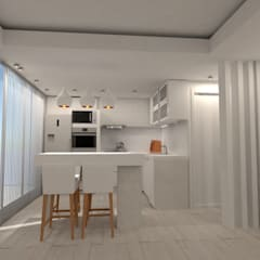 Small kitchens by Heim Arquitectura Interior