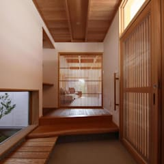 راهرو سبک آسیایی، راهرو و پله ها توسط 永井政光建築設計事務所 آسیایی