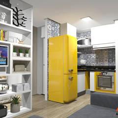 Reforma Studio 25m² por Azzo Arquitetura e Construção Moderno Derivados de madeira Transparente