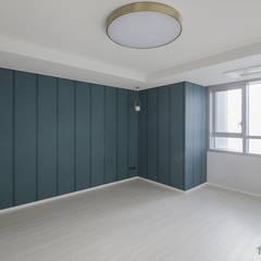 동탄인테리어 메타폴리스 40평대 주상복합 아파트인테리어 by.n디자인인테리어 : N디자인 인테리어의  방,