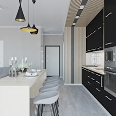 Built-in kitchens by L.E.DESIGNINTERIOR, Eclectic