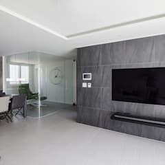 Living room by N디자인 인테리어,