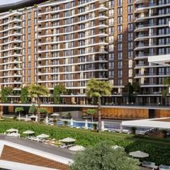 Casas multifamiliares de estilo  por ANTE MİMARLIK