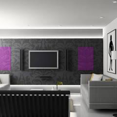 woonkamer verwarming Moderne woonkamers van Heat Art - infrarood verwarming Modern Glas