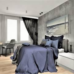 Sypialnia w Apartamencie na wynajem: styl , w kategorii Małe sypialnie zaprojektowany przez Wkwadrat Architekt Wnętrz Toruń,