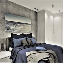 Sypialnia w Apartamencie na wynajem: styl , w kategorii Małe sypialnie zaprojektowany przez Wkwadrat Architekt Wnętrz Toruń