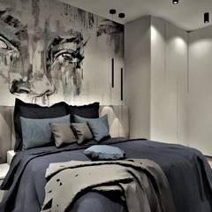 غرف نوم صغيرة تنفيذ Wkwadrat Architekt Wnętrz Toruń