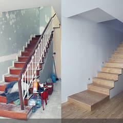 Remodelação Moradia Centro Braga: Escadas  por SAME - Studio Architects,