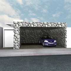 Puertas de garajes de estilo  por Summa - Soluções em Arquitetura, Minimalista Piedra