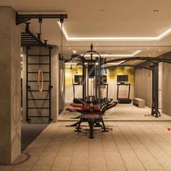 Aswar Hotel - Modern Moroccan Hotel Design:  Gym by Comelite Architecture, Structure and Interior Design
