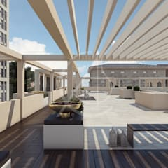 Aswar Hotel - Modern Moroccan Hotel Design:  Roof by Comelite Architecture, Structure and Interior Design , Modern