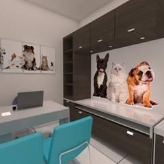Veterinaria PetLand: Clínicas de estilo  por Dima Arquitectos s.a.s,