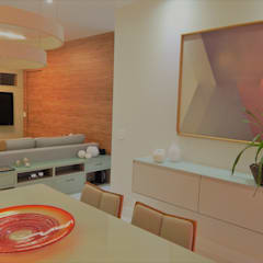 Comedores de estilo  por Izabella Biancardine Interiores, Moderno