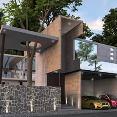 Residencia La Piedra : Espacios comerciales de estilo  por AR216