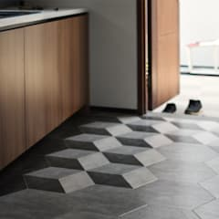 Small kitchens by CV Berkat Estetika, Tropical Ceramic