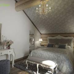 Дизайн интерьера деревянного дома 190 кв. м в стиле русский терем: Спальни в . Автор – ЕвроДом,