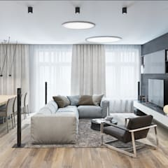K13 Privat Wohnung :  Wohnzimmer von nadine buslaeva interior design