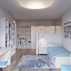 Girls Bedroom by nadine buslaeva interior design,