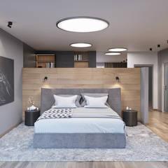 غرفة نوم تنفيذ nadine buslaeva interior design , تبسيطي