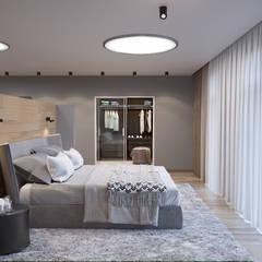 K13 Privat Wohnung :  Schlafzimmer von nadine buslaeva interior design