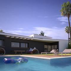 Дома на одну семью в . Автор – Acota2 Arquitectura y Gestión SLP, Минимализм Бетон