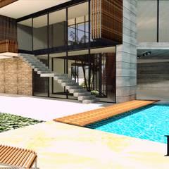CASA 01 : Escaleras de estilo  por D2 ARQUITECTURA Y MOBILIARIO, Moderno Concreto