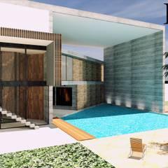 CASA 01 : Piscinas de estilo  por D2 ARQUITECTURA Y MOBILIARIO, Moderno Concreto