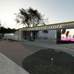 UNIVERSIDAD SERGIO ARBOLEDA SEDE BARRANQUILLA : Escuelas de estilo  por DOMOS ARQUITECTURA S.A.S, Moderno