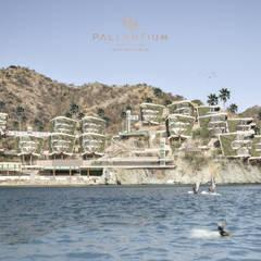 PALLANTIUM  LUXU  EXCLUSIVE: Hoteles de estilo  por DOMOS ARQUITECTURA S.A.S, Moderno