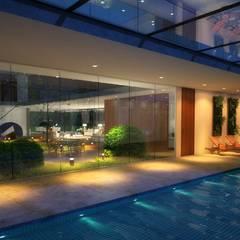 مسبح حديقة تنفيذ Viviane Cunha Arquitetura