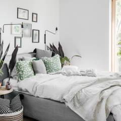 APARTAMENT 80 M²: styl , w kategorii Sypialnia zaprojektowany przez Fuga Architektura Wnętrz