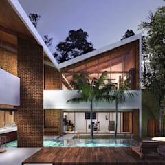 Single family home by Traccia Arquitetura