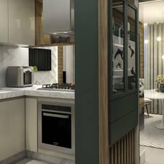 Apartamento LV: Cozinhas pequenas  por Traccia Arquitetura
