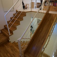 Stairs by 모모건축사사무소, Scandinavian Wood Wood effect