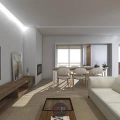 Remodelação de Apartamento T3: Salas de estar  por arcq.o   arquitecto rui costa