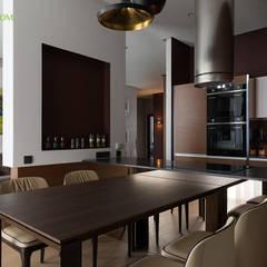 Ремонт четырехкомнатной квартиры 103 кв. м в современном стиле. Фото проекта: Столовые комнаты в . Автор – ЕвроДом,